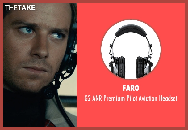 Faro headset from The Man from U.N.C.L.E. seen with Armie Hammer (Illya Kuryakin)