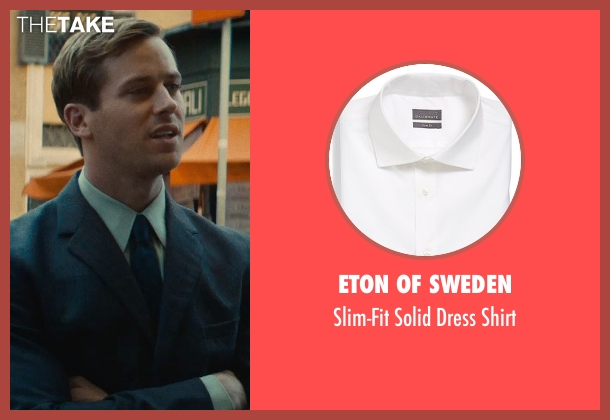 Eton of Sweden white shirt from The Man from U.N.C.L.E. seen with Armie Hammer (Illya Kuryakin)