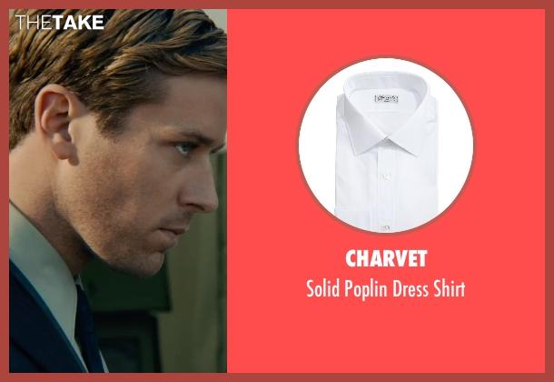 Charvet white shirt from The Man from U.N.C.L.E. seen with Armie Hammer (Illya Kuryakin)