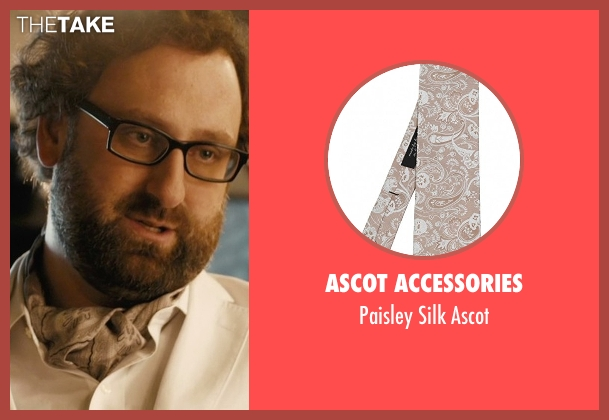 Ascot Accessories beige ascot from Master of None seen with Arnold  (Eric Wareheim)