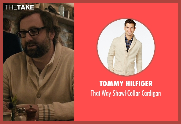 Tommy Hilfiger beige cardigan from Master of None seen with Arnold  (Eric Wareheim)