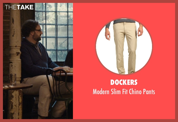 Dockers beige pants from Master of None seen with Arnold  (Eric Wareheim)