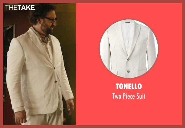 Tonello beige suit from Master of None seen with Arnold  (Eric Wareheim)