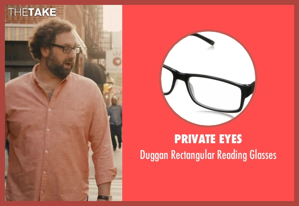 Private Eyes black glasses from Master of None seen with Arnold  (Eric Wareheim)