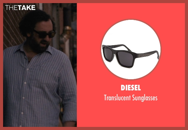 Diesel black sunglasses from Master of None seen with Arnold  (Eric Wareheim)