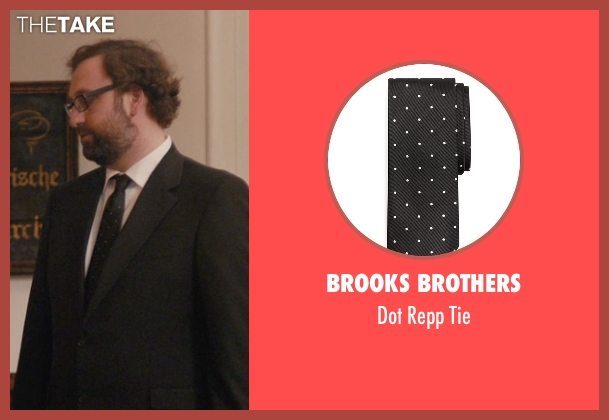 Brooks Brothers black tie from Master of None seen with Arnold  (Eric Wareheim)