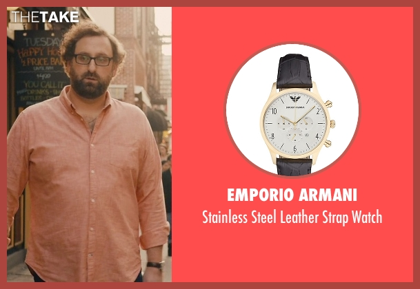 Emporio Armani black watch from Master of None seen with Arnold  (Eric Wareheim)