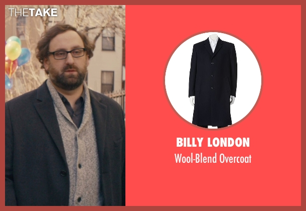 Billy London blue overcoat from Master of None seen with Arnold  (Eric Wareheim)