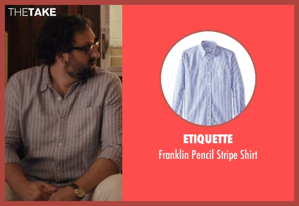 Etiquette blue shirt from Master of None seen with Arnold  (Eric Wareheim)