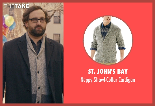 St. John's Bay gray cardigan from Master of None seen with Arnold  (Eric Wareheim)