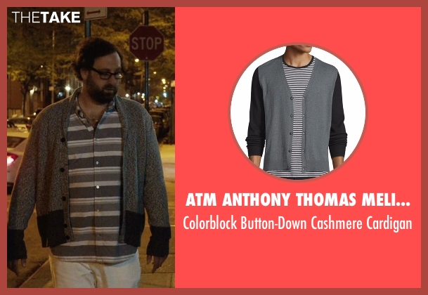 ATM Anthony Thomas Melillo gray cardigan from Master of None seen with Arnold  (Eric Wareheim)