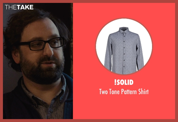 !Solid gray shirt from Master of None seen with Arnold  (Eric Wareheim)