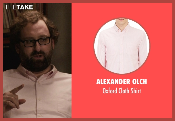 Alexander Olch pink shirt from Master of None seen with Arnold  (Eric Wareheim)