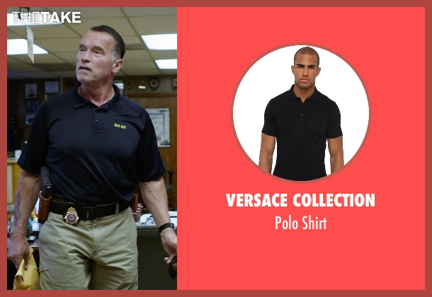 Versace Collection black shirt from Sabotage seen with Arnold Schwarzenegger (John 'Breacher' Wharton)
