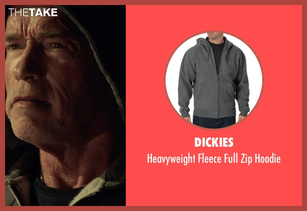 Dickies gray hoodie from Sabotage seen with Arnold Schwarzenegger (John 'Breacher' Wharton)