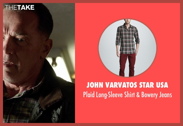John Varvatos Star USA green jeans from Sabotage seen with Arnold Schwarzenegger (John 'Breacher' Wharton)