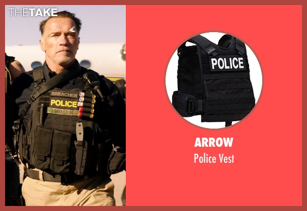 Arrow vest from Sabotage seen with Arnold Schwarzenegger (John 'Breacher' Wharton)