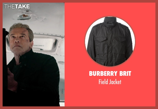 Burberry Brit black jacket from Terminator: Genisys seen with Arnold Schwarzenegger (Terminator)