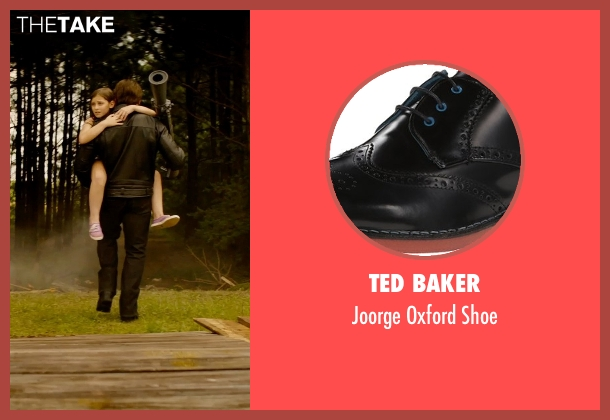 Ted Baker black shoe from Terminator: Genisys seen with Arnold Schwarzenegger (Terminator)