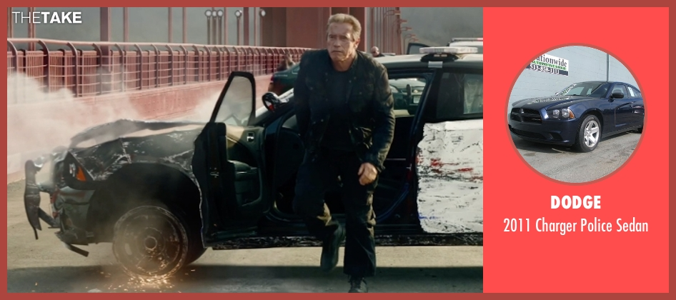 Dodge sedan from Terminator: Genisys seen with Arnold Schwarzenegger (Terminator)