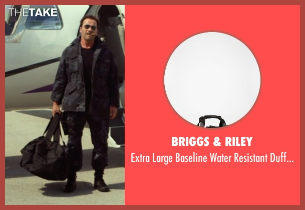 Briggs & Riley black bag from The Expendables 3 seen with Arnold Schwarzenegger (Trench)