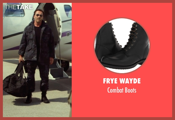 Frye Wayde black boots from The Expendables 3 seen with Arnold Schwarzenegger (Trench)