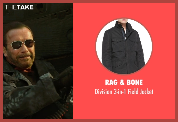 Rag & Bone black jacket from The Expendables 3 seen with Arnold Schwarzenegger (Trench)