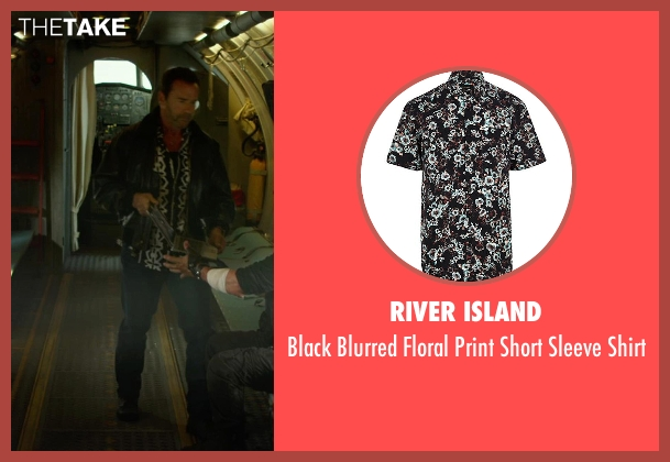 River Island black shirt from The Expendables 3 seen with Arnold Schwarzenegger (Trench)