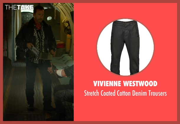Vivienne Westwood black trousers from The Expendables 3 seen with Arnold Schwarzenegger (Trench)