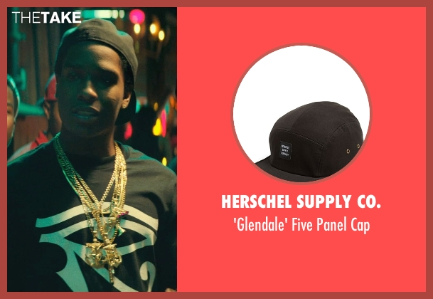 Herschel Supply Co. black cap from Dope seen with ASAP Rocky (Dom)