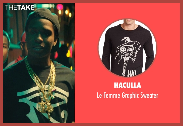 Haculla black sweater from Dope seen with ASAP Rocky (Dom)