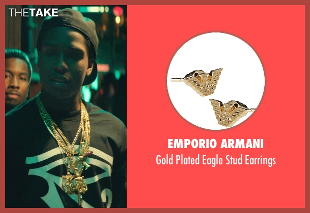 Emporio Armani earrings from Dope seen with ASAP Rocky (Dom)