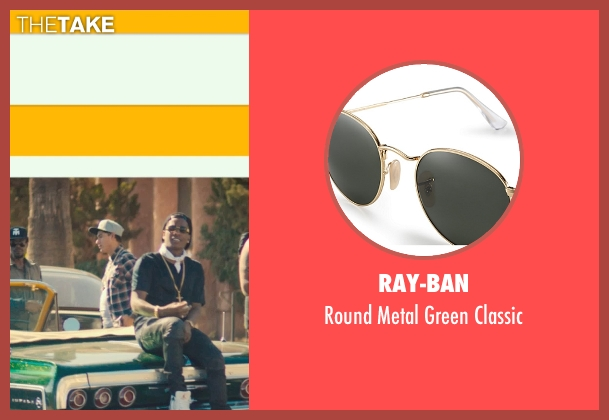 Ray-Ban gold classic from Dope seen with ASAP Rocky (Dom)