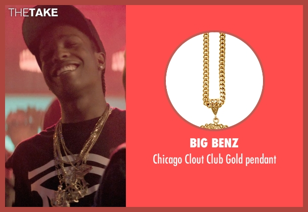 Big Benz gold pendant from Dope seen with ASAP Rocky (Dom)