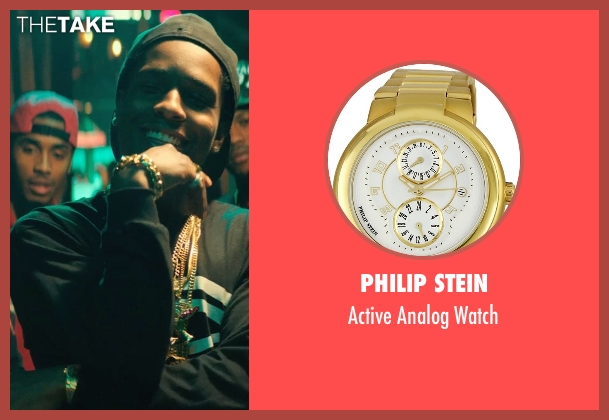 Philip Stein gold watch from Dope seen with ASAP Rocky (Dom)