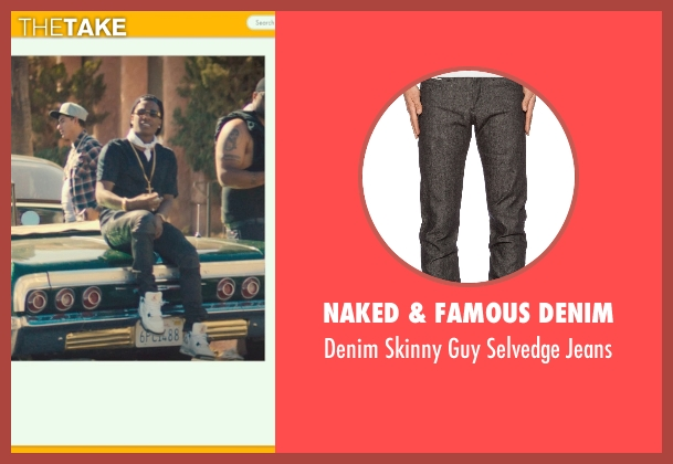 Naked & Famous Denim gray jeans from Dope seen with ASAP Rocky (Dom)