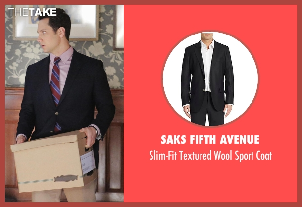 Saks Fifth Avenue black coat from How To Get Away With Murder seen with Asher Millstone (Matt McGorry)