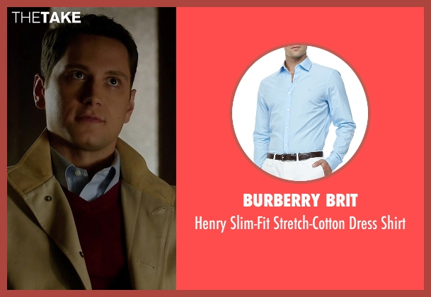 Burberry Brit blue shirt from How To Get Away With Murder seen with Asher Millstone (Matt McGorry)
