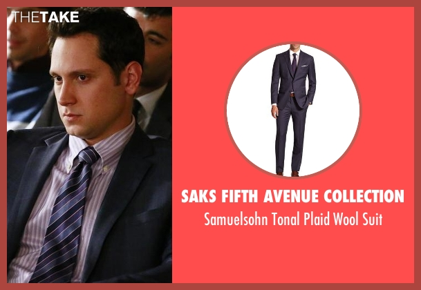 Saks Fifth Avenue Collection blue suit from How To Get Away With Murder seen with Asher Millstone (Matt McGorry)