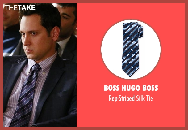 Boss Hugo Boss  blue tie from How To Get Away With Murder seen with Asher Millstone (Matt McGorry)