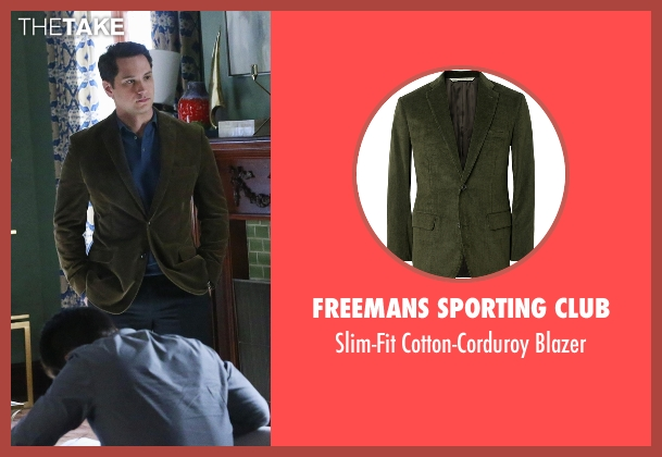 Freemans Sporting Club green blazer from How To Get Away With Murder seen with Asher Millstone (Matt McGorry)