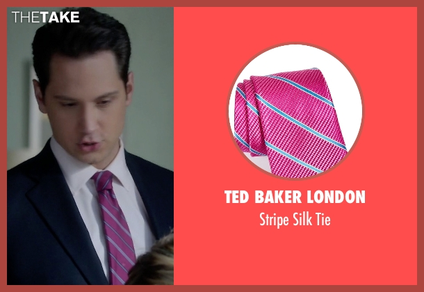 Ted Baker London purple tie from How To Get Away With Murder seen with Asher Millstone (Matt McGorry)