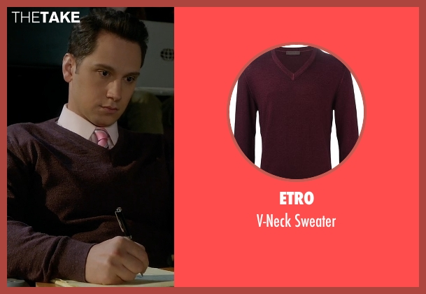 Etro red sweater from How To Get Away With Murder seen with Asher Millstone (Matt McGorry)