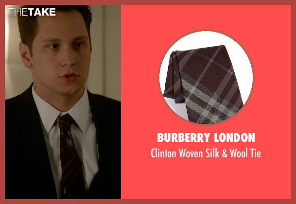Burberry London red tie from How To Get Away With Murder seen with Asher Millstone (Matt McGorry)