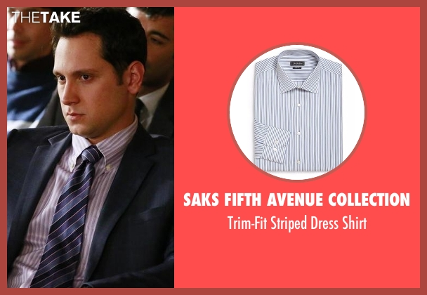 Saks Fifth Avenue Collection white shirt from How To Get Away With Murder seen with Asher Millstone (Matt McGorry)