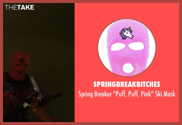 SpringBreakBitches mask from Spring Breakers seen with Ashley Benson (Brit)