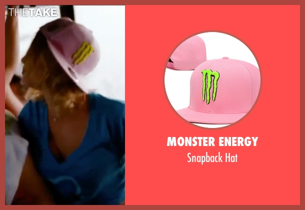 Monster Energy pink hat from Spring Breakers seen with Ashley Benson (Brit)