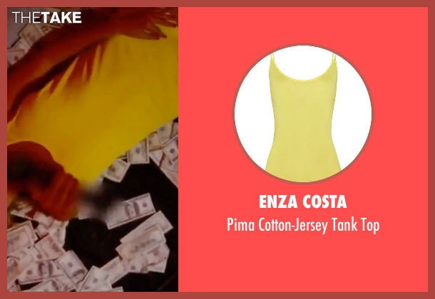 Enza Costa yellow top from Spring Breakers seen with Ashley Benson (Brit)