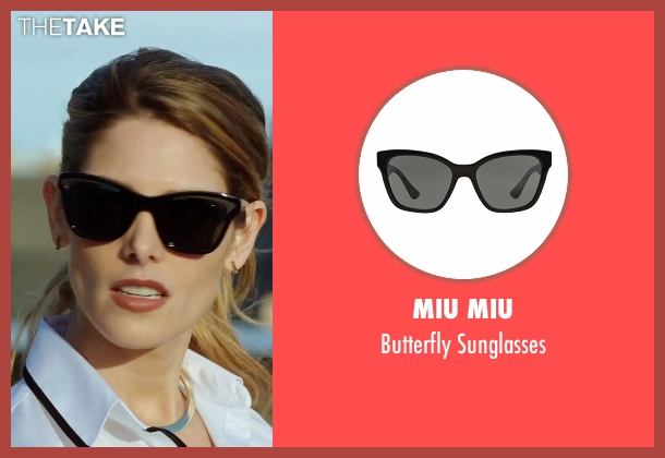 Miu Miu black sunglasses from Urge seen with Ashley Greene (Theresa)