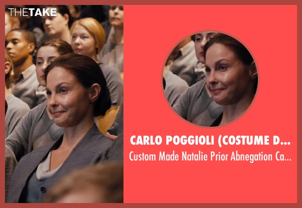 Carlo Poggioli (Costume Designer) gray cardigan from Divergent seen with Ashley Judd (Natalie Prior)